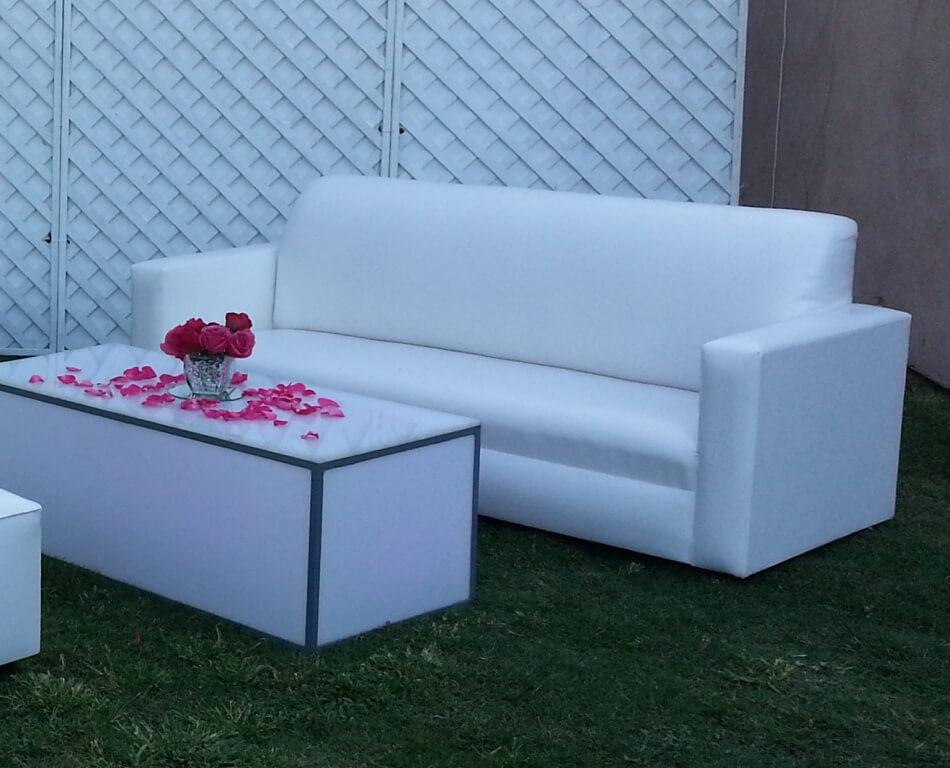 Couch Sofa White Vinyl