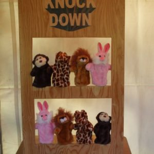 Knock-Down carnival game rental