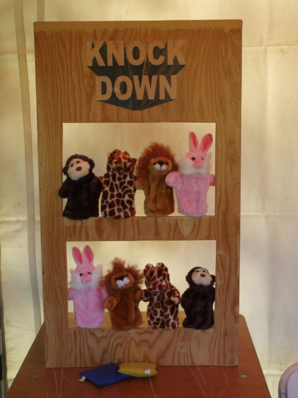 Knock-Down carnival game rental