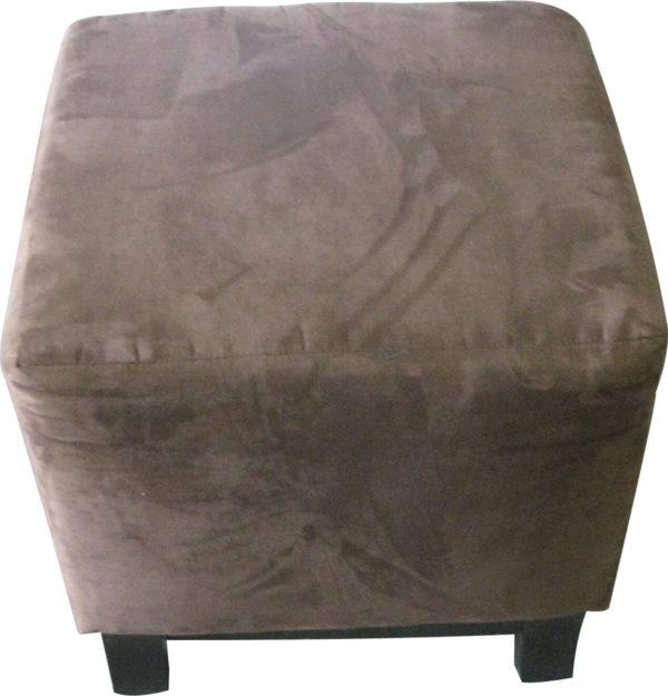 brown suede ottoman rental