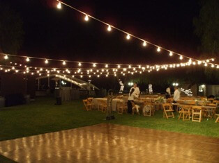 string light party rentals
