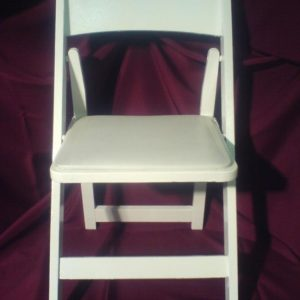 white wood folding chair rental